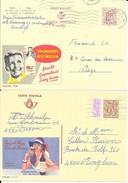 2 X PUBLIBEL  1938 + 2732F  -  FOUCROY  Bruxelles Et Yoghourt NUTRELLA - Enteros Postales