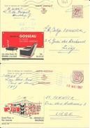 2 X PUBLIBEL  2198 + 2208  Meubles Metens MAURAGE Et Meubles Gosseau BRAINE L'ALLEUD - Stamped Stationery