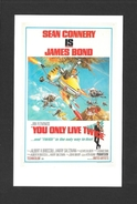 AFFICHES - POSTERS - CINÉMA - JAMES BOND AGENT 007 - US POSTER FOR YOU ONLY LIVE TWICE (1967) - Posters On Cards