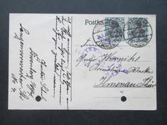 DR Infla 1922 Nr. 104 MeF / Paar Postkarte Löwenberg Schlesien Nach Ilmenau. - Deutschland