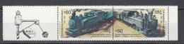 Chili 1988,2V In Strip:raiway,trains,treinen,züge,trenes,treni,,MNH/Postfris(L3027) - Trains
