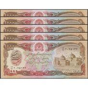 TWN - AFGHANISTAN 61c - 1000 1.000 Afghanis 1991 UNC DEALERS LOT X 5 - Afghanistan