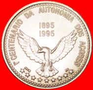 § GOSHAWK: AZORES ★ 100 ESCUDOS 1895 1995 UNC MINT LUSTER! LOW START★ NO RESERVE! - Azores