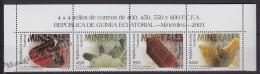Equatorial Guinea -  Guinea Ecuatorial - Guinée Équatoriale 2004 Edifil 322-25, Minerals - MNH - Guinée Equatoriale