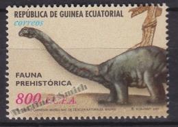 Equatorial Guinea -  Guinea Ecuatorial - Guinée Équatoriale 2002 Edifil 287, Prehistoric Fauna - MNH - Guinea Ecuatorial