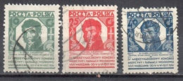 Poland 1927 Congress Of Millitary Medicine And Pharmacy - Mi. 249-51 - Used - Used Stamps