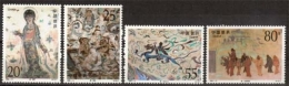China MiNr. 2440/43 **, Wandmalereien Aus Den Magao-Grotten, Dunhung (IV) - Ungebraucht