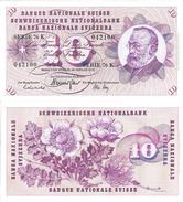 ZUM NENNWERT-À LA FACIALE: 10 Schweizer Franken Der 1970er-Jahre (ungefaltet-bankfrisch) Mit Gottfried Keller (1819-90) - Suisse