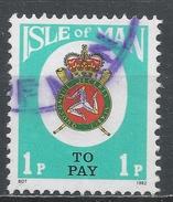 Isle Of Man 1982. Scott #J17 (U) Coat Of Arms - Man (Ile De)