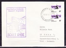 B-1268, Neuseeland / ROSS-Nebengebiet / SCOTT BASE; MiNr. 10 V (2x) Auf Brief Nach Deutschland - Covers & Documents