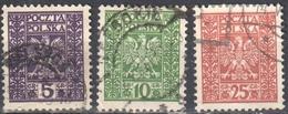 Poland 1928 Arms Of Poland - Mi. 261-63 - Used - 1919-1939 Republik