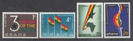 Ghana 1963 Mi.nr: 149-152  3.Jahre Republik  Neuf Sans Charniere /MNH / Postfris - Ghana (1957-...)