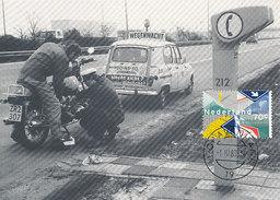 D29416 CARTE MAXIMUM CARD FD 1983 NETHERLANDS - RENAULT 100 YEARS ANWB - ROADSIDE ASSISTANCE - CP ORIGINAL - Cars