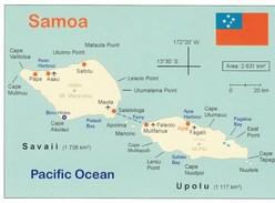 CPM - Carte Géographique - Samoa - Maps