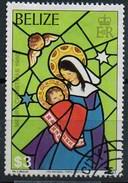PIA - BELIZE - 1980 : Natale - Illustrazioni Della Natività - La Vergine Con Il Bambino - Vetrata - (Yv 510) - Vetri & Vetrate