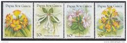 PAPUA NEW GUINEA, 1989 FLOWERS 4 MNH - Papua Nuova Guinea