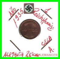GERMANY  -   MONEDA  DE  1- REICHSPFENNIG  AÑO 1935 A   Bronze - 1 Rentenpfennig & 1 Reichspfennig