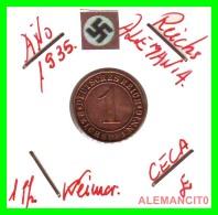 GERMANY  -   MONEDA  DE  1- REICHSPFENNIG  AÑO 1935 E   Bronze - 1 Rentenpfennig & 1 Reichspfennig