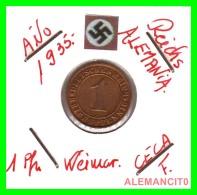 GERMANY  -   MONEDA  DE  1- REICHSPFENNIG  AÑO 1935 F   Bronze - 1 Rentenpfennig & 1 Reichspfennig