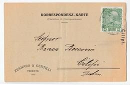 Zennaro & Gentilli Trieste Company Post Card Korrespondenz-Karte Travelled 1912 To Braca Boscovic Cilipi Ragusa Bb170325 - 1850-1918 Empire