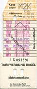 Schweiz - Tarifverbund Basel - Mehrfahrtenkarte Kind  - Billet 10.00 Fr. - Bahn
