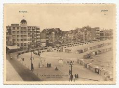 C.P.S.M. BELGIQUE - La Plage D'ALBERT-PLAGE (KNOCKE-ZOUTE)Astoria-Hôtel Et Le Casino  Voir Les 2 Photos - Belgique