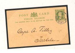 V197 1902 British Virgin Islands Postcard Postal Stationery {samwells-covers}PTS - British Virgin Islands