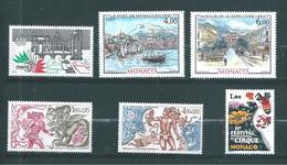 Monaco Timbres De 1985  Neufs** N°1491 A 1496 Complet - Ungebraucht