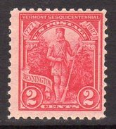 USA 1927 2c 150th Aniversary Of Vermont Independence, Hinged Mint (SG 646) - Vereinigte Staaten