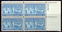 USA 1927-51 13c Special Delivery Plate Block Of 4, MNH (SG E649) - Nuevos