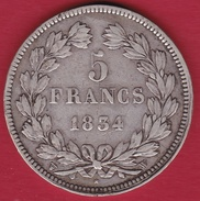 France 5 Francs Louis Philippe  1834 W - France