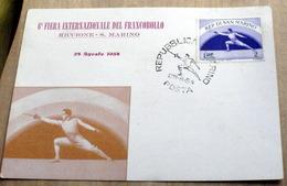 SAN MARINO 1952, GIOCHI OLIMPICI FIERA INTERNAZIONALE DEL FRANCOBOLLO - San Marino