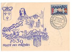 Carte Postale Traité Des Pyrénéés - France