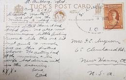 Newfoundland 1933 Postcard To The US. Oval Cancellation - Terre-Neuve
