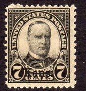 USA 1929 7c McKinley Kansas Overprint Definitive, Lightly Hinged Mint (SG 662) - Etats-Unis