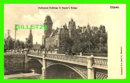 OTTAWA, ONTARIO - PARLIAMENT BUILDINGS & SAPPER'S BRIDGE - ANIMATED - ILLUSTRATED POST CARD CO - - Ottawa