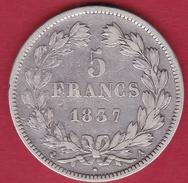 France 5 Francs Louis Philippe  1837 A - France