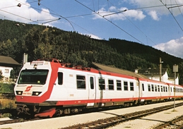 Electric Railcar No 4090 002-9 Of Mariazell Railway At Mariazell Station 1999   -  CPM - Trains
