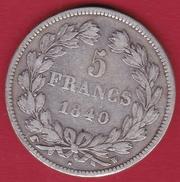 France 5 Francs Louis Philippe  1840 W Cornue - France