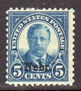 USA 1929 5c Theodore Roosevelt Nebraska Overprint Definitive, Lightly Hinged Mint (SG 671) - Etats-Unis