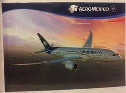 Airline Issue - AEROMEXICO Boeing 787 Dreamliner - Postcard6 - 1946-....: Moderne