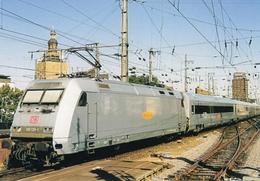 Electric Locomotive Of German Railways (DB)  At Koln 2003   -  CPM - Trains