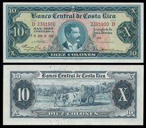 Costa Rica 10 COLONES 4.3.1965 P 229 AU+ - Costa Rica
