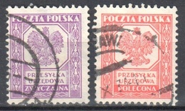 Poland 1933 Official Stamps - Mi.17-18 - Used - Oficiales