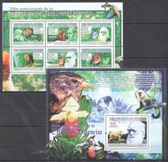 N78 2009 REPUBLIQUE DE GUINEE ANIMALS CHARLES DARWIN 1KB+1BL MNH