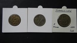 Czechoslovakia - 1964,1975,1983 - 1,2,5 Kronen - KM 50,75,60 - VF - Look Scans - Tschechoslowakei