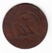 FRANCE KM 771.5. 1855 K. 10 Cts. (5BP26) - D. 10 Centimes