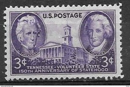 1946 3 Cents Tennessee Mint Never Hinged - United States