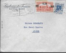1939  ALGERIE  ENVELOPPE GATERIES DE FRANCE RUE D ISLY ALGER - Algerien (1962-...)