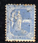 R754 - NEW SOUTH WALES , Gibbons N. 265 : Il 2 1/2 Pence Poco Fresco CON FILIGRANA (crown On Nsw) CAPOVOLTA ! - 1850-1906 New South Wales